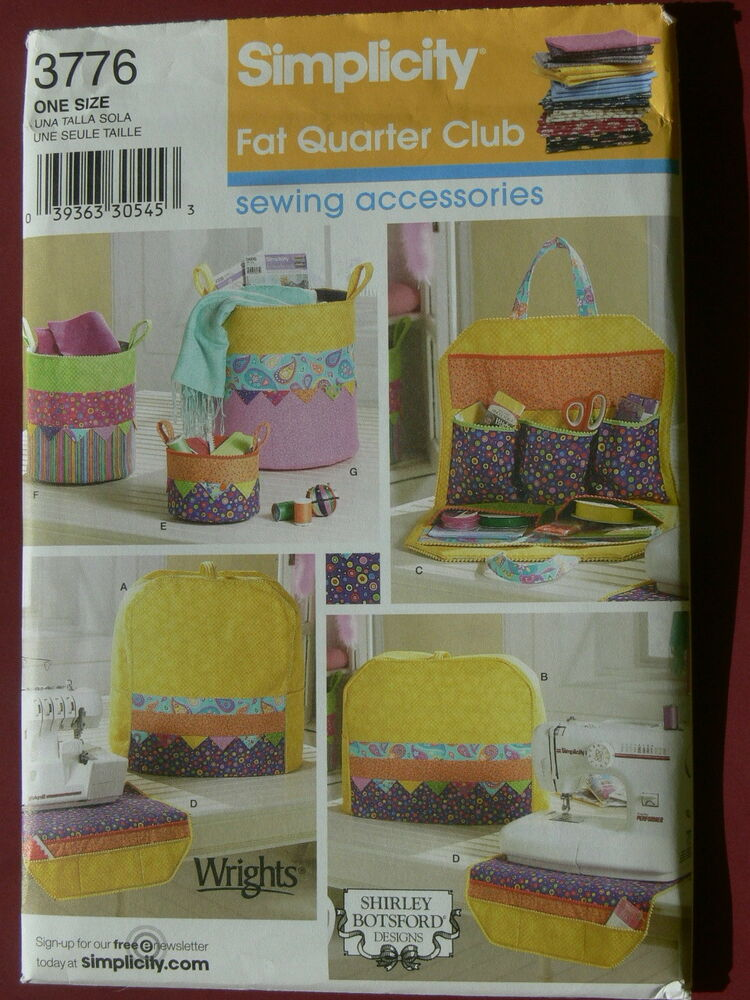 Book Cover Sewing Quarters : Simplicity pattern sewing room accessories from fat