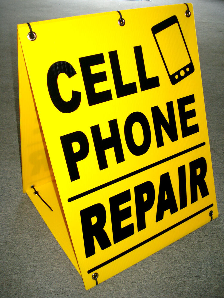 Cell Phone Repair Sandwich Board Sign A Frame Kit New Ebay