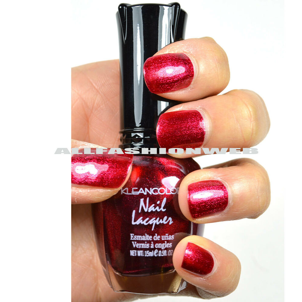1 NEW KLEANCOLOR METALLIC RED NAIL POLISH LACQUER FULL