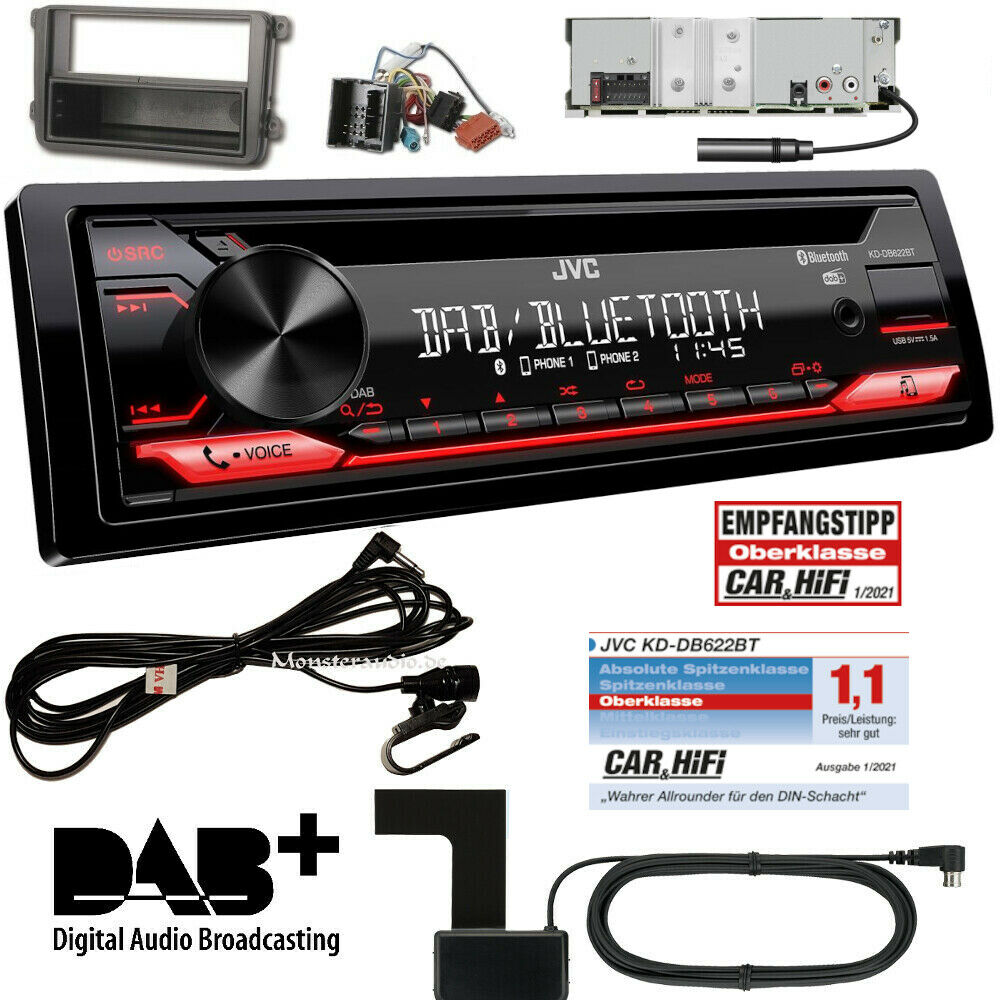 jvc autoradio doppel din usb mp3 radio f r vw caddy golf 5. Black Bedroom Furniture Sets. Home Design Ideas