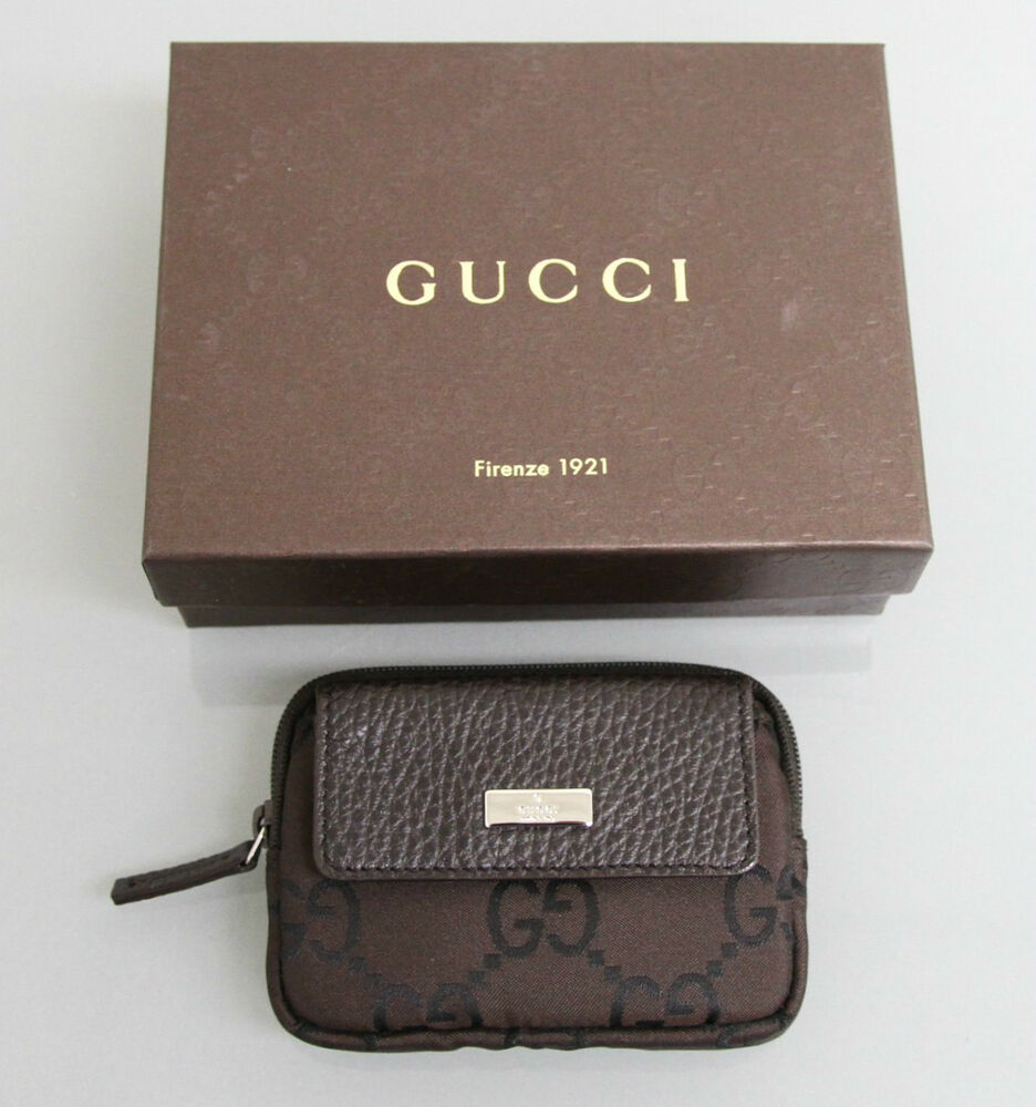 New Authentic GUCCI Coin Purse Card Holder, W/Box Unisex