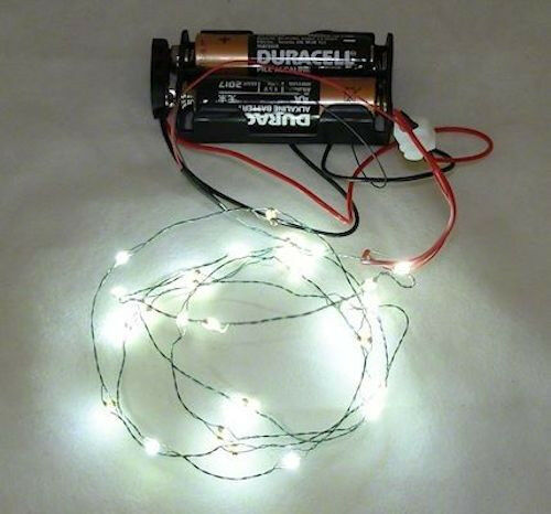 26 Working Cool White LED Christmas Lights Battery