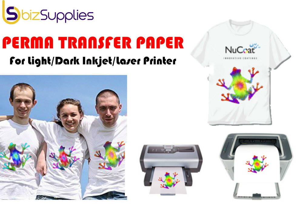 Heat transfer paper iron on transfer paper inkjet laser for Printing t shirt transfers