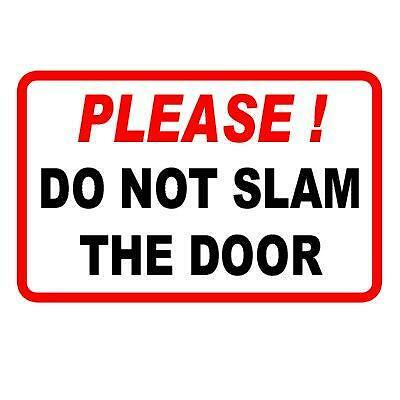 \u0027PLEASE DO NOT SLAM THE DOOR....\u0027 TAXI STICKER | eBay