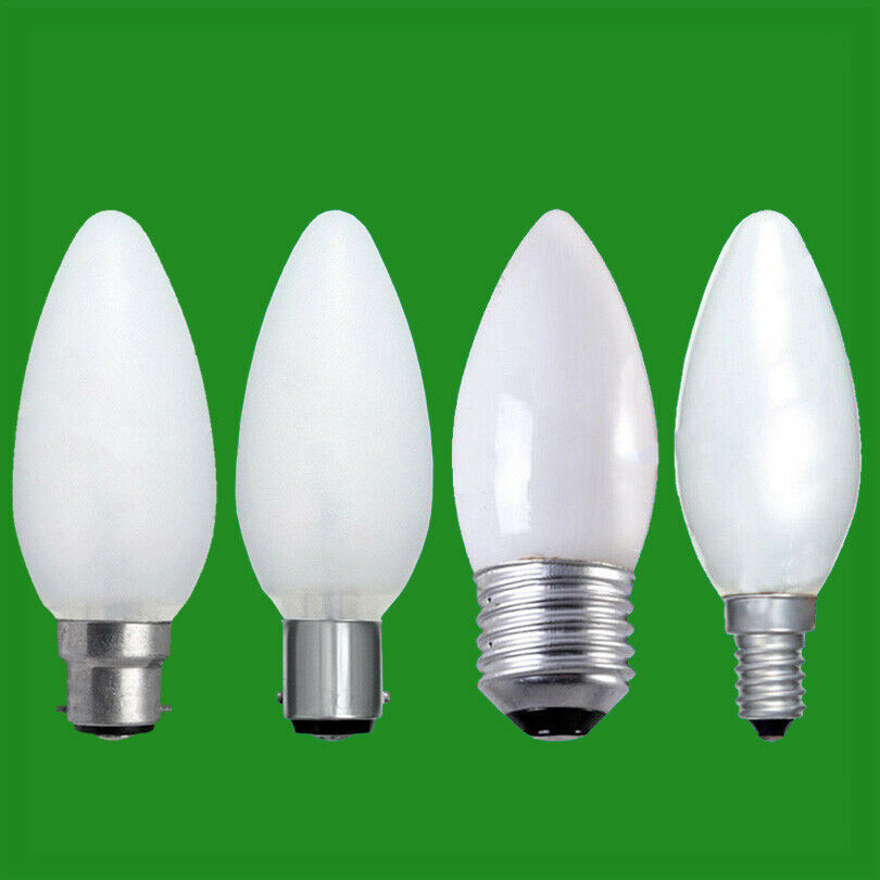 10x Opal Candle Dimmable Standard Light Bulbs 25w 40w 60w Bc Es Sbc Ses Lamps Ebay