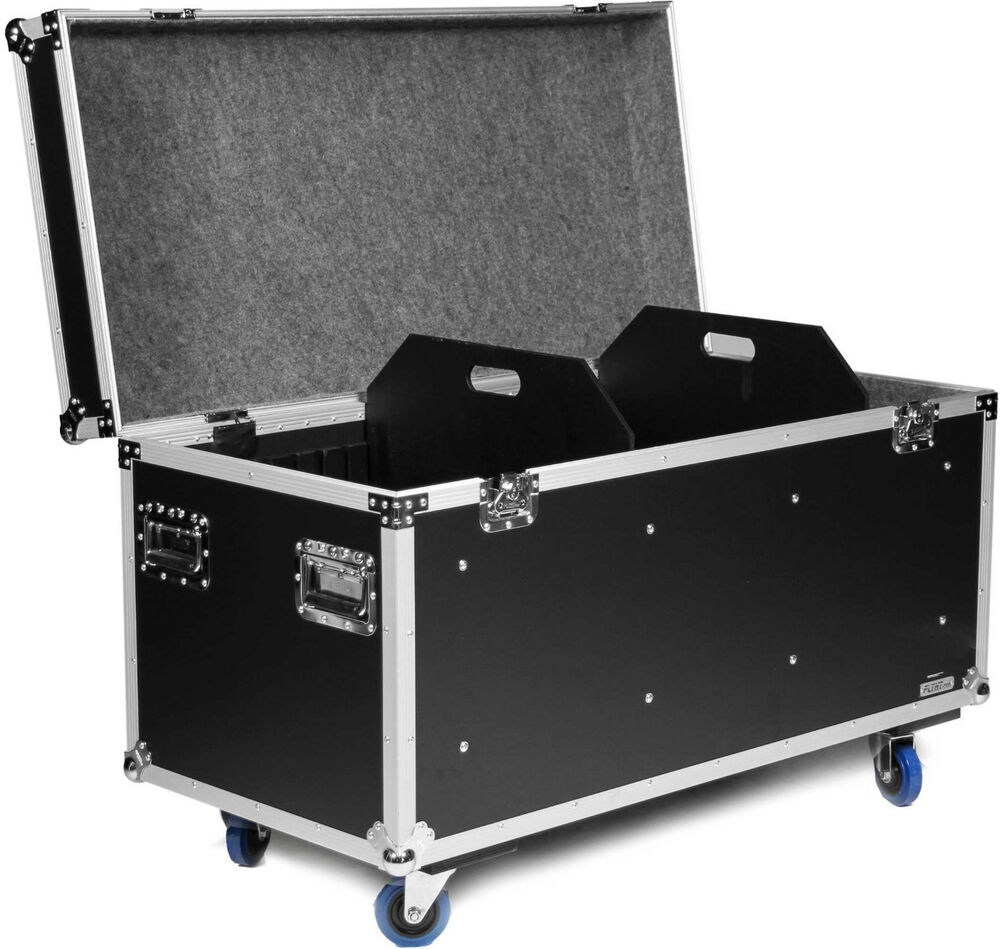 flyht universal tour case mit rollen 120 cm truhencase transportkiste tourcase ebay. Black Bedroom Furniture Sets. Home Design Ideas