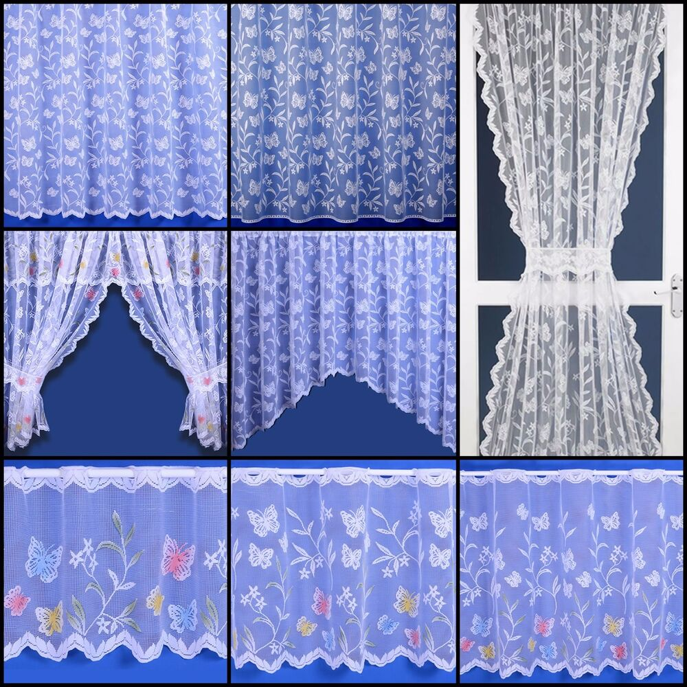 Butterfly Selection Net Curtain Cafe Net Jardinieres