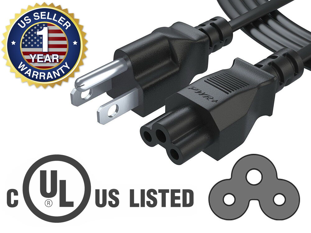 Computer Power Cable : Ft ac power cable cord for laptop adapter charger hp