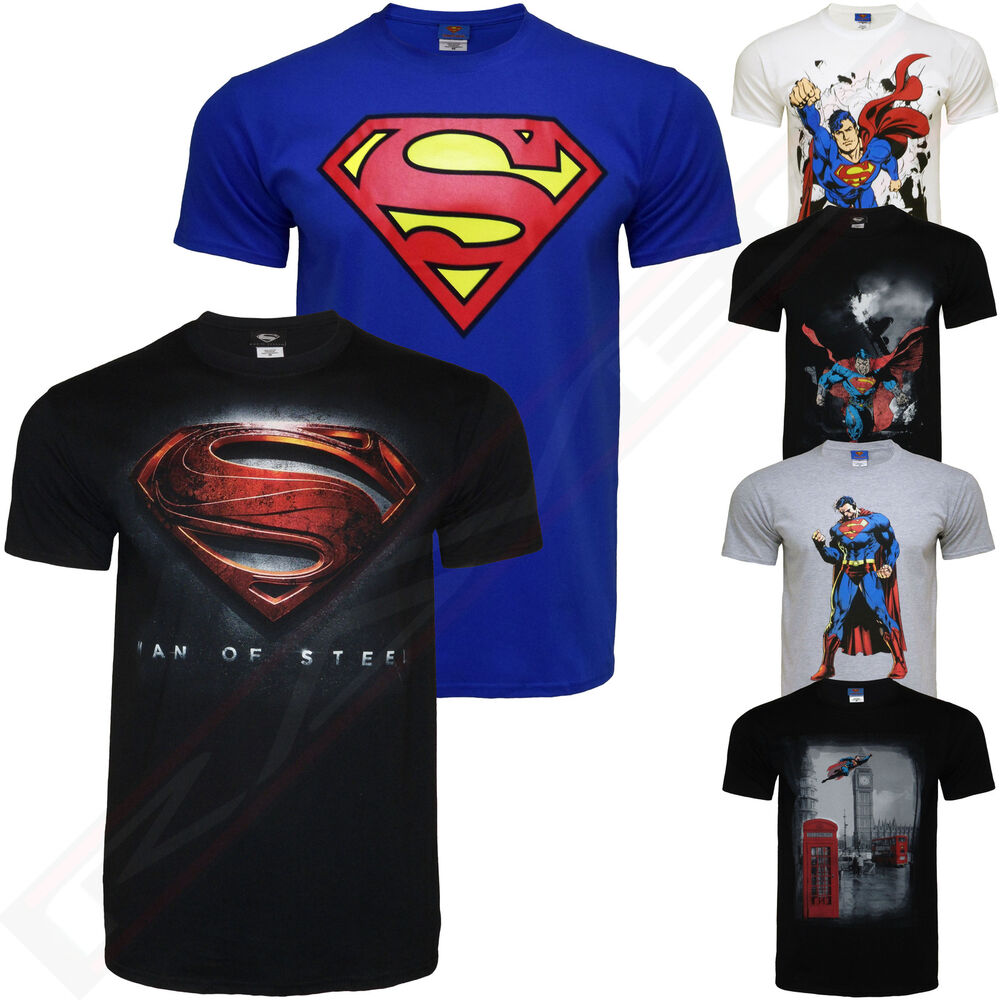 Superman man of steel official graphic t shirt tee top ebay for Man of steel t shirt online