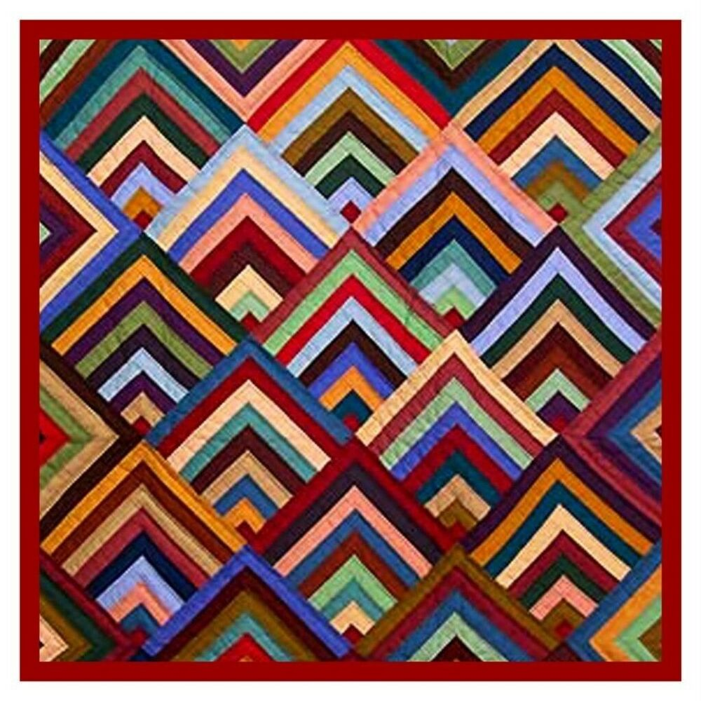 The Concentric Chevrons inspired by an Amish Quilt Counted Cross Stitch Chart eBay