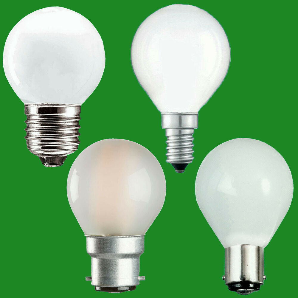 Opal Golf Round Dimmable Standard Light Bulbs 25w 40w 60w Bc Es Sbc Ses Lamps Ebay