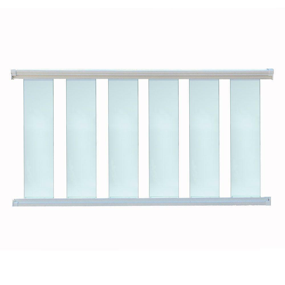 Glass Staircase Balustrade Kit: Glass Baluster Deck Railing -72 Inches Wide