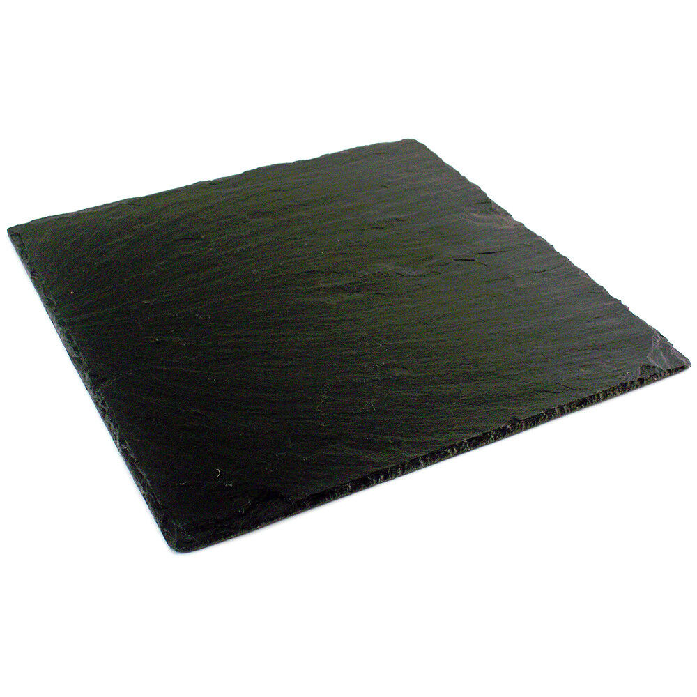 Zieher Black Slate Square ServingCheese Plate 98511  eBay