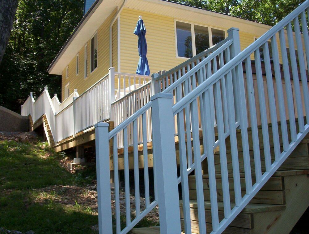 Aluminum deck railing inches wide residential