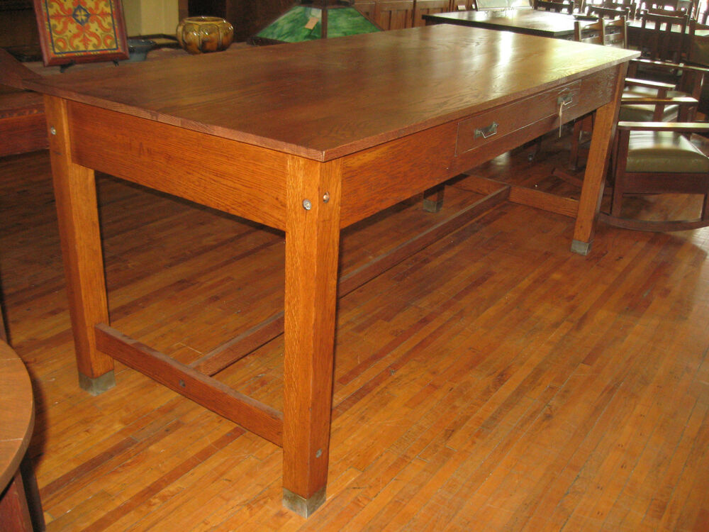 Large Antique Oak School Lab Industrial Drawing Table 36 Library Kitchen Island Ebay
