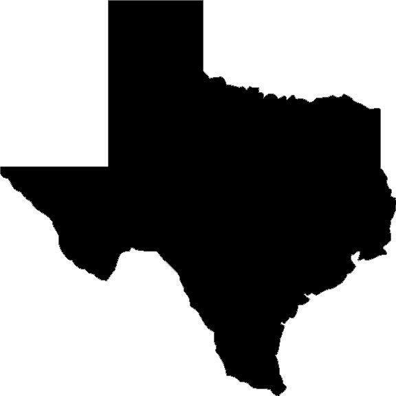 Texas state vinyl decal/sticker silhouette Longhorns eBay