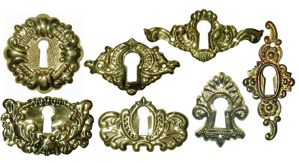 POLISHED STAMPED BRASS VICTORIAN KEYHOLE COVERS, 7 Styles, Sold in ... Victorian Keyhole Covers