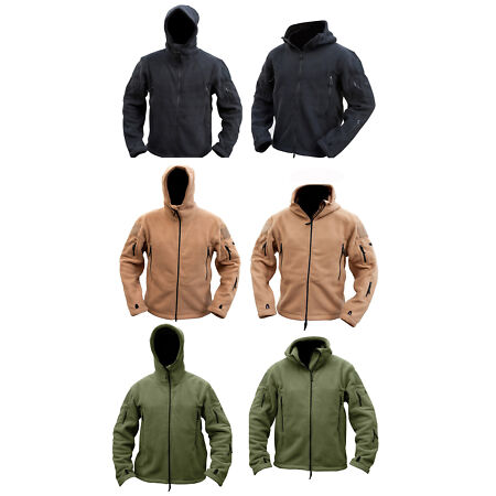 img-Mens Military Army Combat Recon Hoodie Fleece Hoodies Sweat Zip Jacket S - XXXL