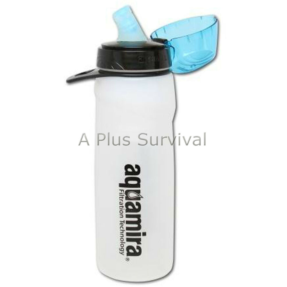 aquamira 100 gallon capacity water filter bottle for emergen