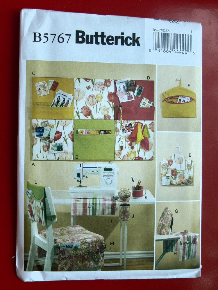 Butterick Pattern 5767 Sewing Room Organizers Crafting Home Decor Ebay