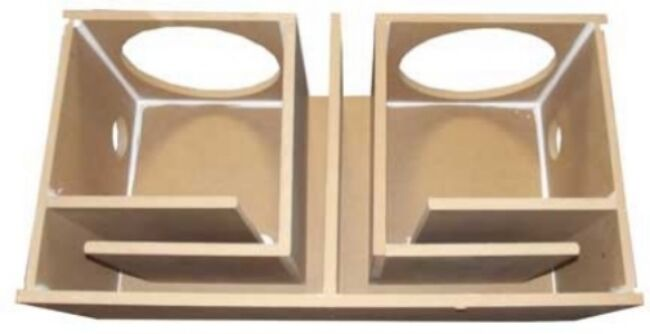 10 inch dual subwoofer sub box enclosure ported vented 1 for Box subwoofer in vetroresina