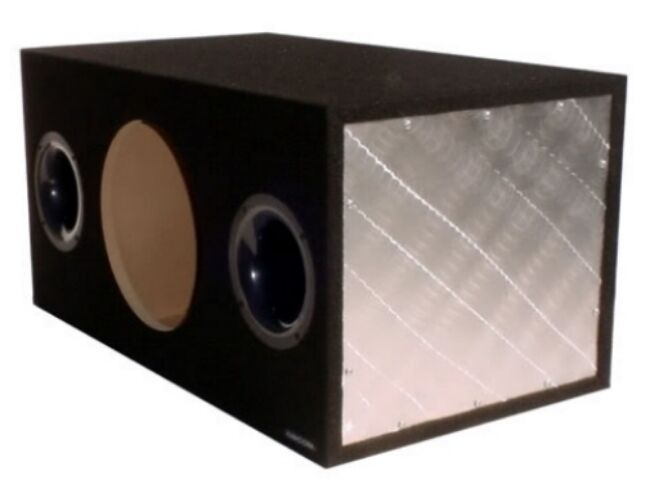 Obcon gz series single 12 dual ported enclosure 3 4 mdf for Box subwoofer in vetroresina