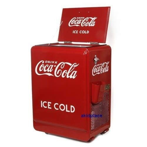Coca cola retro 1930 39 s red refrigerator coke machine for 1 door retro coke cooler