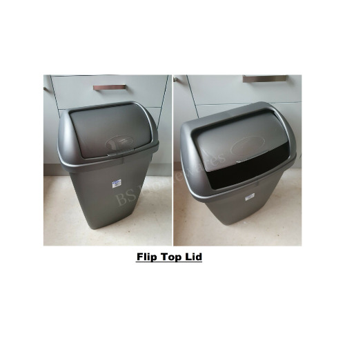 Swing bin plastic 50l litre rubbish waste dustbin large Large kitchen trash can with lid
