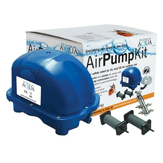 Evolution aqua airtech pump 70 complete kit koi pond air for Fish pond pumps