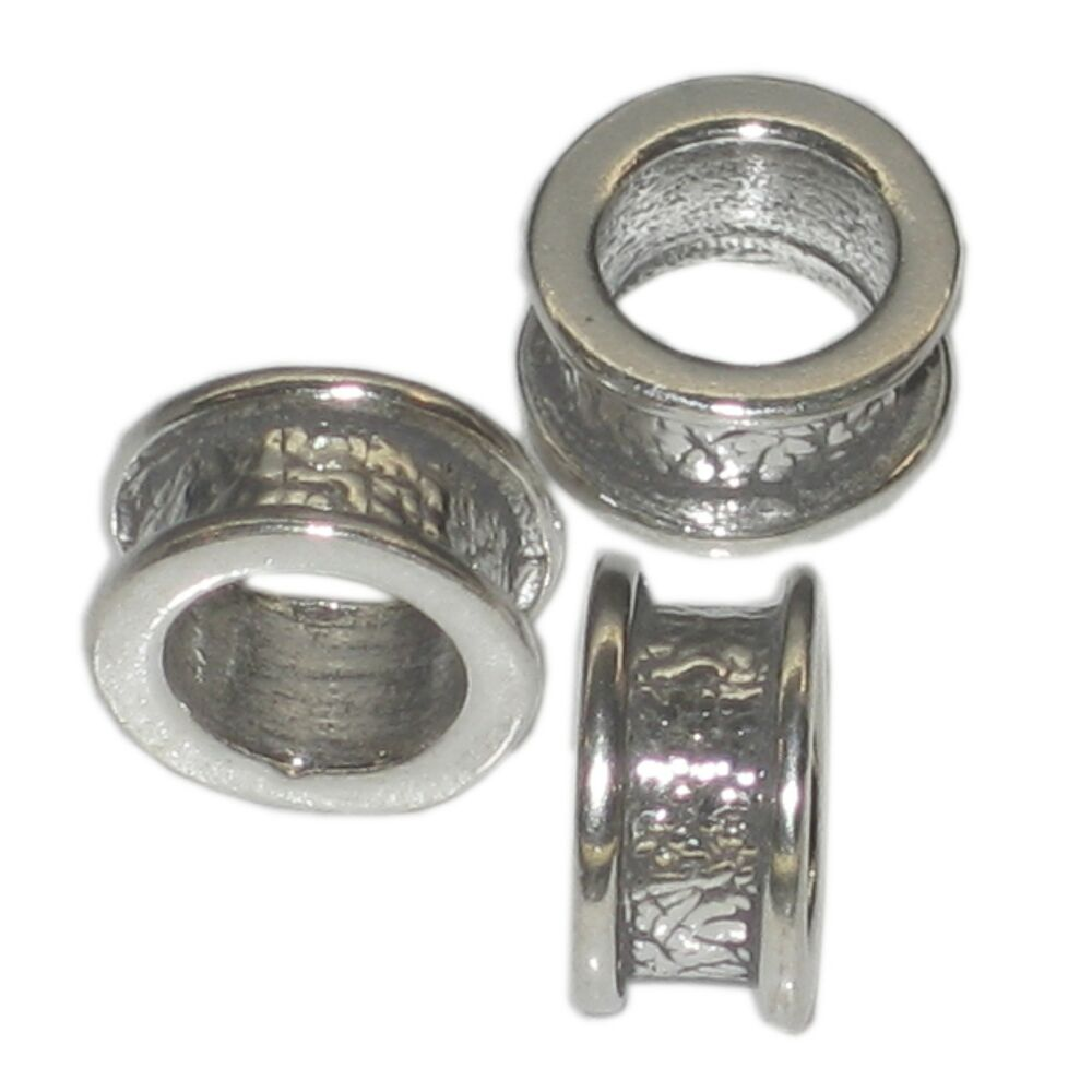 Silver Beads: Bead Sterling Silver Charm Spacer .925 X 1 Beads Charms Spacers SSCB11
