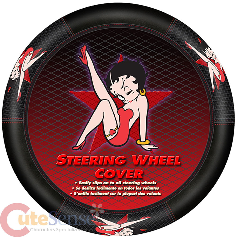 betty boop star steering wheel cover auto car accesory ebay. Black Bedroom Furniture Sets. Home Design Ideas