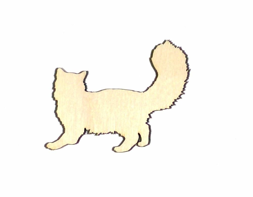 Ragdoll Cat Unfinished Wood Shape Cut Out RD8017 Crafts