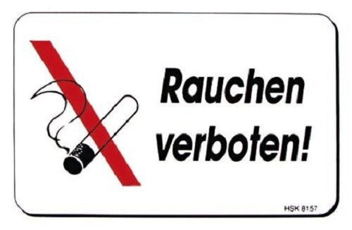 nichtraucher schild hinweisschild 15 x 10 cm rauchen verboten 308157 ebay. Black Bedroom Furniture Sets. Home Design Ideas