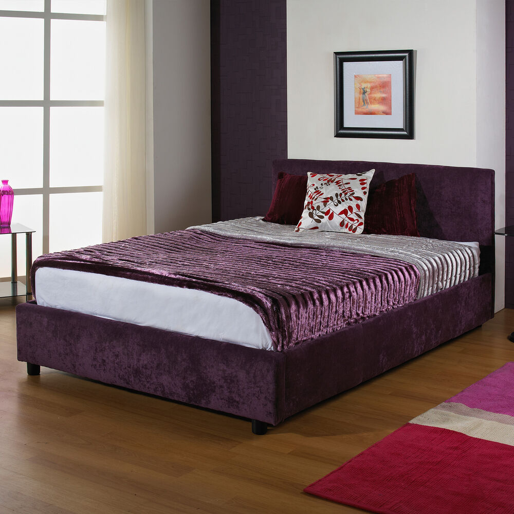 New 6ft Super King Size Upholstered Bedstead Memory Foam