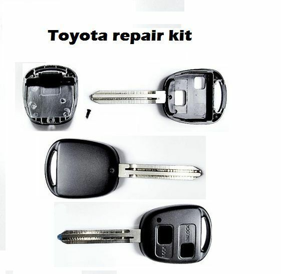toyota yaris replacement 2 button remote key fob case shell ebay. Black Bedroom Furniture Sets. Home Design Ideas