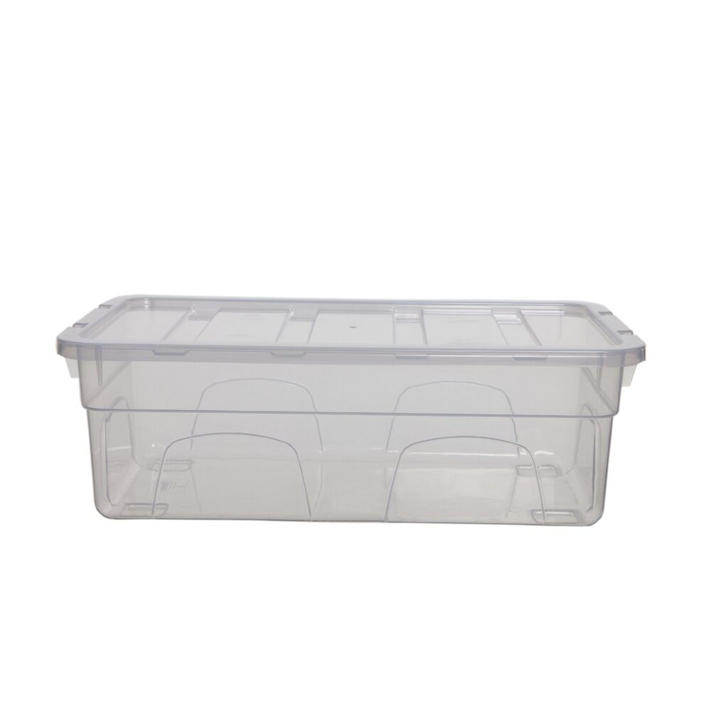3 X CLEAR PLASTIC LADIES SHOE BOX STORAGE STACKING