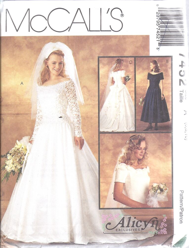 7452 uncut mccalls vintage sewing pattern alicyn excl for Sell your wedding dress online for free