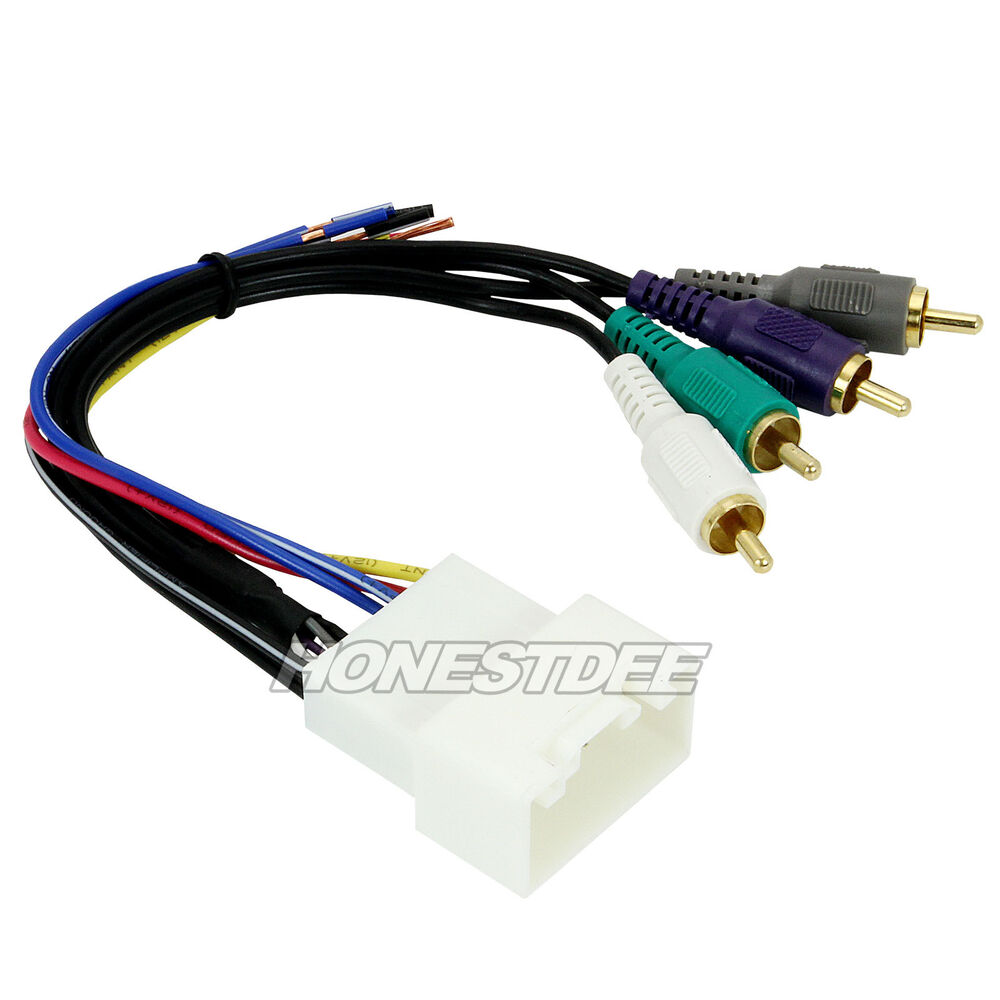 Toyota Wiring Harness Stereo : Aftermarket car stereo radio to toyota wiring wire harness