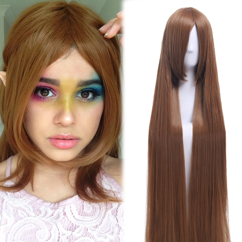 150cm/60inch Extra Long Straight Light brown smooth ...