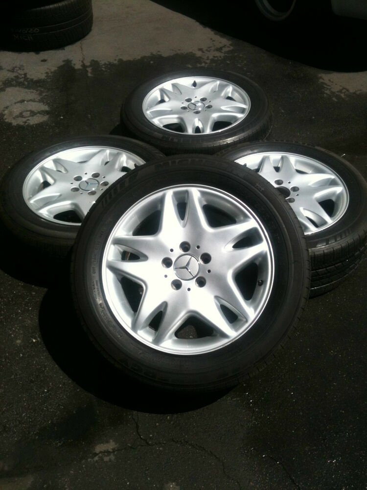 Oem mercedes benz w220 s cl class w220 rims with michelin for Mercedes benz factory rims
