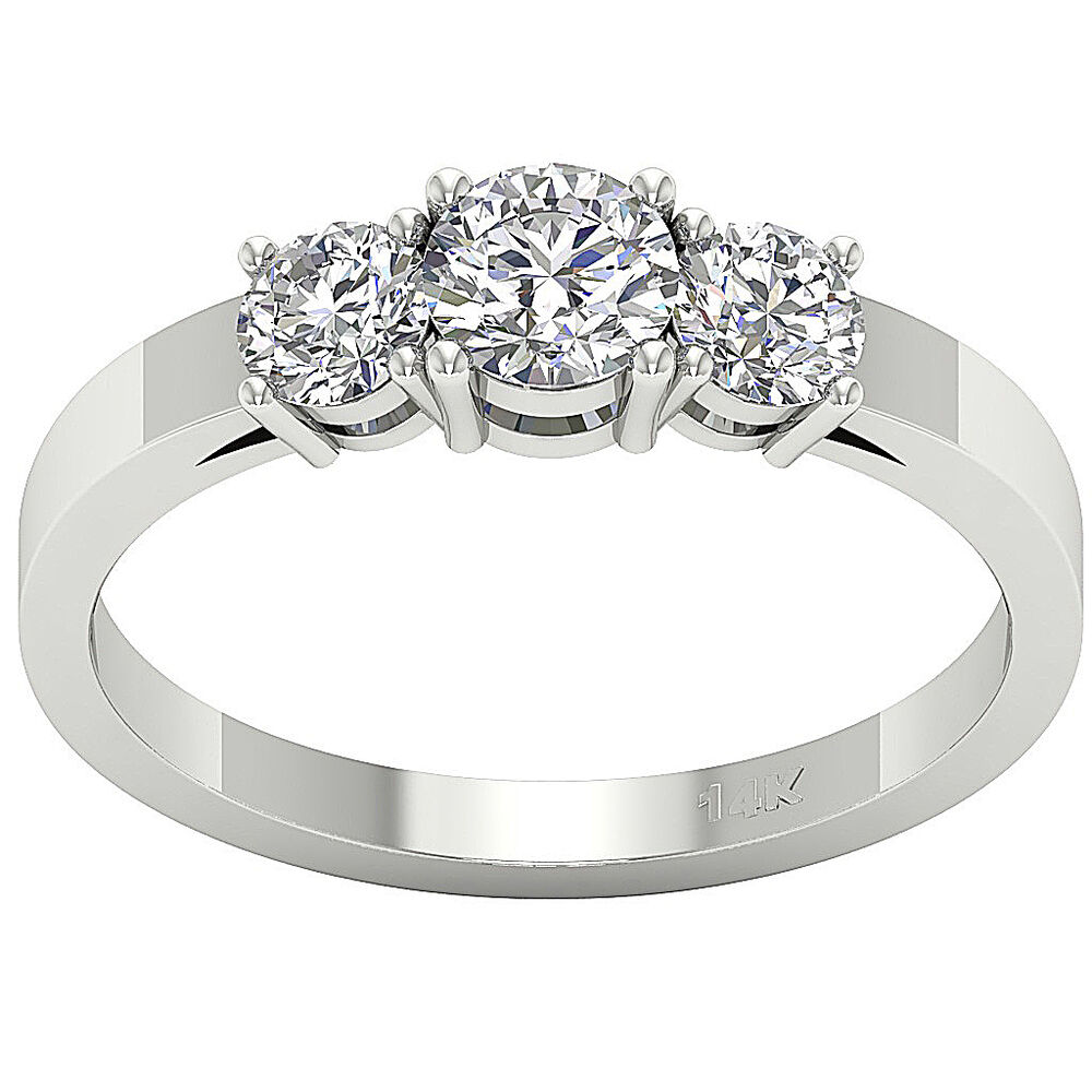 Stone Diamond Anniversary Ring