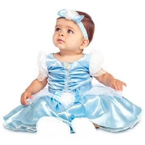 New Nip Disney Baby Girls Halloween Cinderella Costume 6: CiNdErELLa~Baby~Costume~DRESS+HEADBAND~NWT~Disney Store