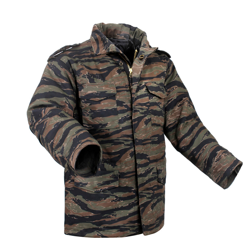 5470ab04658b0 Details about M-65 Field Jacket Coat Tiger Stripe Camo with liner various  sizes rothco 8713