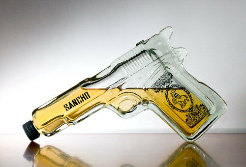 Pistol Gun Shaped Glass Tequila Bottle Liquor Spirits | eBay