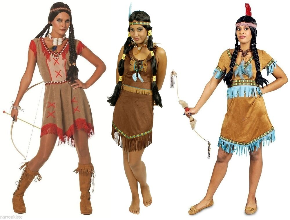 indianer indianerin sioux squaw apache wilder westen kost m kleid indianerkost m ebay. Black Bedroom Furniture Sets. Home Design Ideas