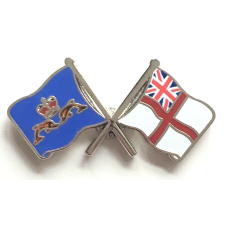 img-Royal Navy White Ensign and Submariners - MOD Approved Enamel Lapel Pin Badge