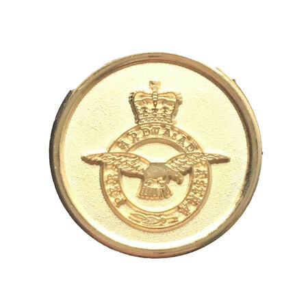 img-Royal Air Force RAF Round Crest Gold Plated Lapel Pin Badge