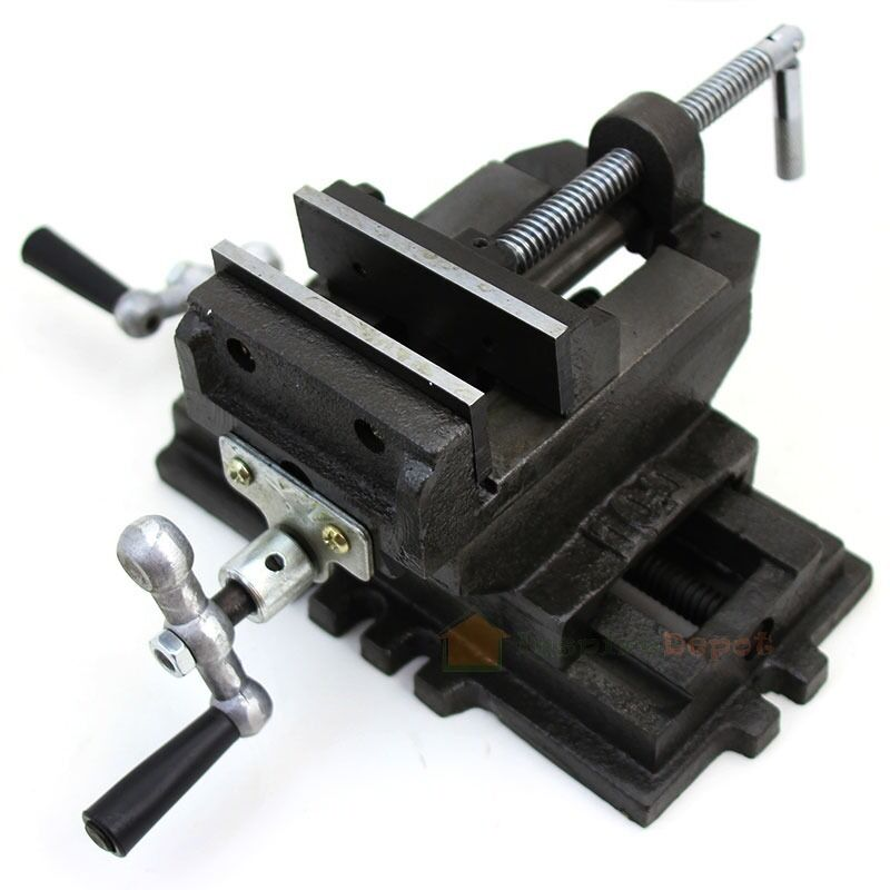 "4"" Cross Slide Drill Press Vise Clamp 2-Way Vises New Bench Top Holder Clamping 