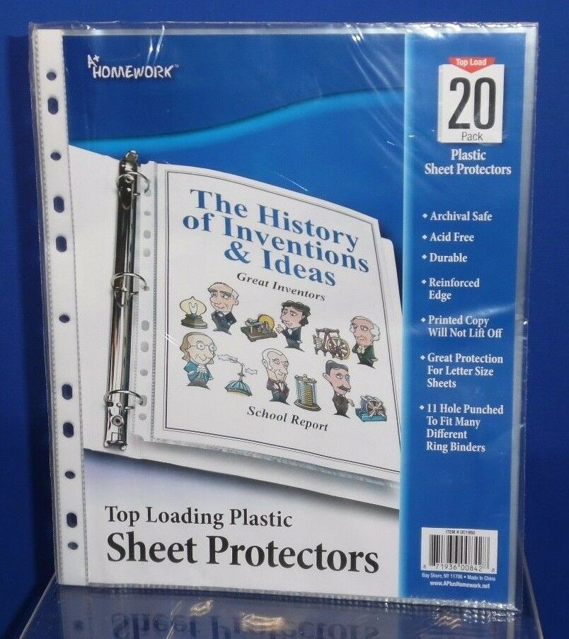 20 Clear Protective Album Binder Pages Sleeves Letter Sz