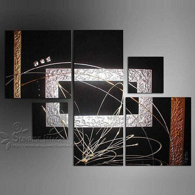 Oil Paint Wall Design : Op hand painted modern abstract oil painting on canvas